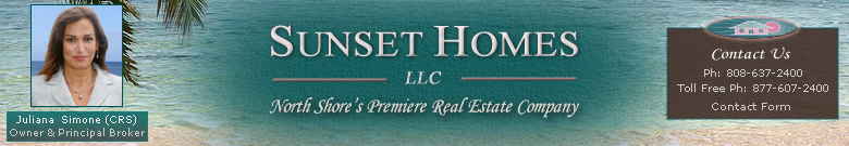 Sunset Homes LLC - North Shore Hawaii Real Estate Company